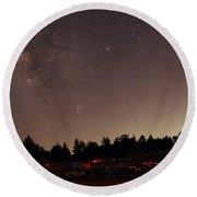 Julian Night Sky Milky Way Round Beach Towel