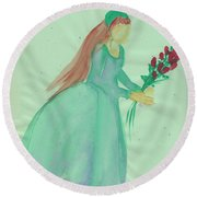 Juliet  By Jrr Round Beach Towel
