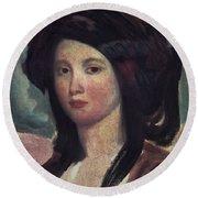 Juliette Drouet (1806-1883) Round Beach Towel