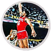 Julius Erving Round Beach Towel