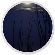 July 2014 Super Moon Round Beach Towel