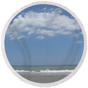 Jumping Waves Round Beach Towel