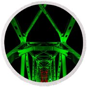 Junction Bridge Round Beach Towel