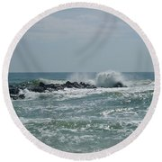 June Surf Round Beach Towel