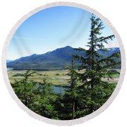 Juneau From Glacier Gardens Round Beach Towel
