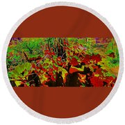 Jungle Abstract Round Beach Towel