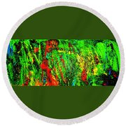 Jungle Beat Round Beach Towel