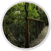 Jungle Bridge Round Beach Towel