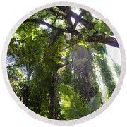 Jungle Canopy Round Beach Towel