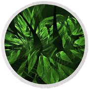 Jungle Clearing  Round Beach Towel