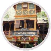 Jungle Cruise Adventureland Disneyland Round Beach Towel