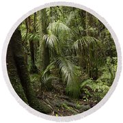 Jungle Leaves Round Beach Towel