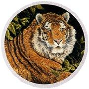 Jungle Monarch Round Beach Towel