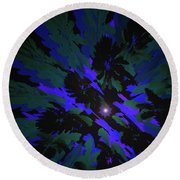 Jungle Night Sky By Jammer Round Beach Towel