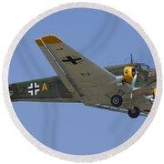 Junkers Ju-52 Round Beach Towel