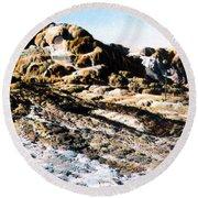 Jupiter Terrace Yellowstone Np 1928 Round Beach Towel