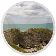 Jurassic Coast At Lulworth Round Beach Towel