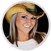 Just A Country Girl Round Beach Towel