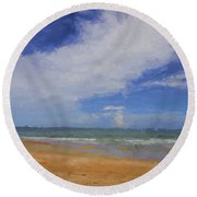 Just A Day Round Beach Towel