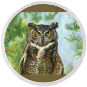 Just A Hoot Round Beach Towel
