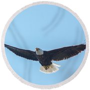 Just Above The Trees Round Beach Towel
