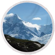 Just Another Snow-capped Mt Round Beach Towel