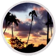 Just Another Sunrise In Paradise Round Beach Towel