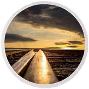 Just Before Sunrise Round Beach Towel by Bob Orsillo