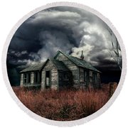 Just Before The Storm Round Beach Towel by Aimelle