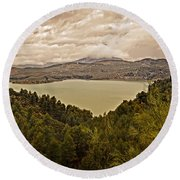 Just Before The Storm - Ardales Round Beach Towel