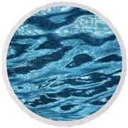 Just Blue  Round Beach Towel