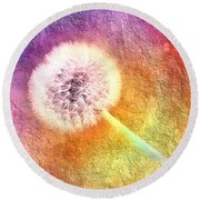 Just Dandy A Colorful Dream Round Beach Towel