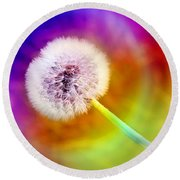 Just Dandy Taste The Rainbow Round Beach Towel