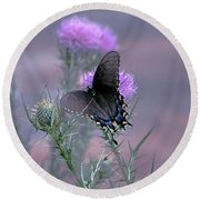 Just Fluttering By Round Beach Towel
