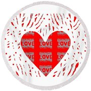 Just Love Round Beach Towel