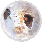 Just One Touch Round Beach Towel