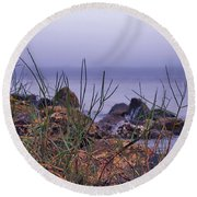Just Over The Rocks Round Beach Towel