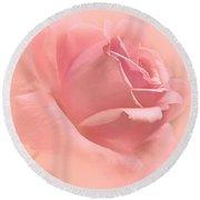 Blush Pink Rose Flower Round Beach Towel