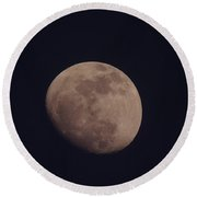Just The Moon Round Beach Towel