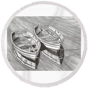 Two Dinghy Friends Just The Two Of Us Round Beach Towel