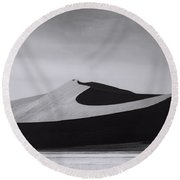 Just The Way They Are Round Beach Towel