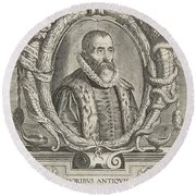 Justus Lipsius, Belgian Scholar Round Beach Towel by Photo Researchers