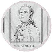 Justus Zachariae (1726-1777) Round Beach Towel