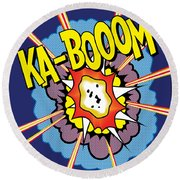 Ka-boom 2 Round Beach Towel by Gary Grayson