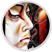 Kabuki Three Round Beach Towel