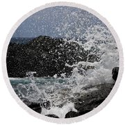 Ka'ena Point Surf Round Beach Towel