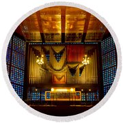Kaiser Wilhelm Church Organ Round Beach Towel