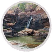 Kakadu Waterfall Round Beach Towel
