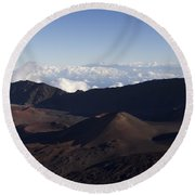 Kalahaku Overlook Haleakala Maui Hawaii Round Beach Towel
