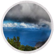 Kalalau Outlook  Round Beach Towel